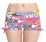Fortuning's JDS® Nouvelle arrivée fleurs imprimées bikini piscine bas mini-court maillots de bain pour femmes