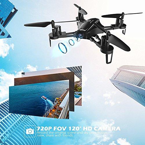 Holy Stone HS230 Drone RC FPV con 120 ° FOV 720P HD Droni Camera Live Video 45Km / h Quadcopter ad Alta velocità di Resistenza al Vento con Schermo LCD 5.8G Trasmettitore in Tempo Reale - 7