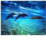 Puzzle 1000 Piezas Buceo Con Bricolaje En El Mar Y Mariposas En 3D Con Números Y Pegatinas Classic Puzzle 3D Puzzle Diy Kit Juguete De Madera Regalo Único Decoración Para El Hogar