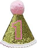 Hocaies 3 pezzi a LED Crown Craft festa di compleanno diademi e corone per la festa di compleanno e saluti festività per i bambini adulti stampato pattern diverse lettere 3 LED modalità flash Giochi e giocattoli Feste e compleanni Cappellini, maschere e accessori Cappelli (Gold)