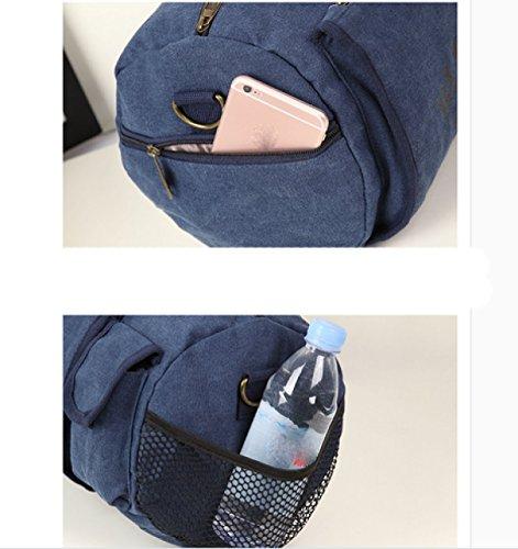 LAIDAYE Fitness Leinwand Umhängetasche Reisetasche Sporttasche Fitnesstasche Große Kapazität Handtasche Beige