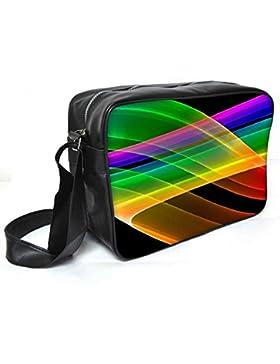 Snoogg Rainbow Design Leder Unisex Messenger Bag für College Schule täglichen Gebrauch Tasche Material PU