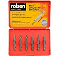 Rolson 28997 Damaged Screw and Bolt Remover - 6 Pieces