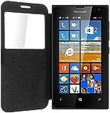 iPOMCASE Coque Etui Pochette Housse Protection Microsoft Nokia Lumia 435 (Noir)