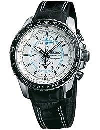 Seiko Sportura Chronograph White Dial Men's Watch - SNAF01P1