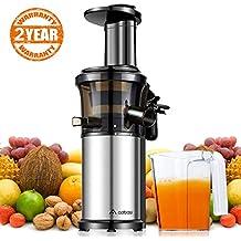 Licuadora Prensado en Frio,Aobosi Licuadoras Para Verduras y Frutas,compacto Extractores de zumo
