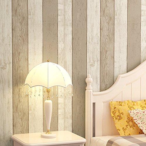 Tessuto non tessuto blu Mediterraneo orientale salone di legno camera da letto carta da parati vintage striscia verticale televisione sfondo , light brown