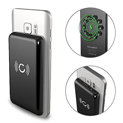 Cellonic® Wireless Powerbank 2600mAh avec ventouse pour Qi sans fil avec indicateur de charge LED pour iPhone X, 8, 8 Plus / Samsung Galaxy S7, S6, Edge, Note 5 / Nokia, Microsoft Lumia 950, 930, 830, 735 (...) - Batterie chargeur externe USB