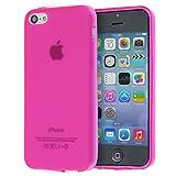 doupi PerfectFit TPU Custodia per iPhone 5C, tappi di polvere incorporatin mat trasparente cover, pink