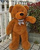Click4Deal Big Soft Teddy Bear 4 Feet Long Pink (122 Cm) (Brown)