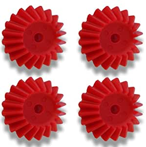 27 MM 20 TOOTH MODULE 1 PRECISION MOULDED PUSH-FIT BEVEL NYLON PLASTIC GEAR -4 pieces