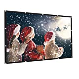AMWOKE Projector Screen,120 inch Portable Projection Screen with 16:9 HD Movie Screen