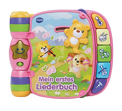 VTech Baby 80-166754 - Babyspielzeug - Mein erstes Liederbuch, pink (Monate Baby-bücher 9)