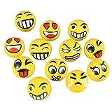 Antisress Palla 12 Pezzi Stress Rilievo Palla Giocattolo Dito Mano Ginnico Terapia Strumento(Giallo)