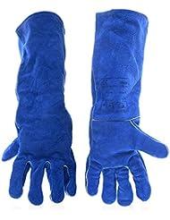 Hombres y mujeres guantes de trabajo de soldadura cuero resistente al desgaste Soldadura retardante de llama