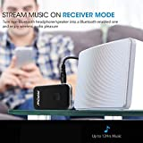 Bluetooth Transmitter Receiver,Mpow 3.5mm Aux Bluetooth 4.1 Transmitter  and Receiver 2 in 1, Car Kits, with AptX Low Latency & Build-in Microphone, A2DP, MIC,  Portable Wireless Bluetooth Adapter Audio Music Receiver TV Transmitter with 3.5mm Jack &  RCA Stereo Output for Home / Car