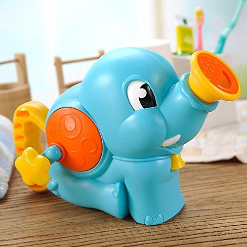 Udane Kinder Cartoon Schöne Wasser Spiel Spielzeug Elefant Dusche SpielzeugAnimal Badewanne Badezimmer Bad Spielzeug Blau - Elefanten-dusche
