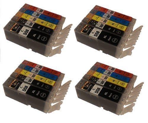 5500 Chip (20 Tintenpatronen MIT CHIP für Canon mit FREIE FARBAUSWAHL IP 7200 Serie iP7250 ip8700 Serie iP8750 MG5400 Serie MG5450 MG 5500 Serie MG5550 MG5600 Serie MG5650 MG6300 Serie MG6350 MG6400 Serie MG6450 MG6600 Serie MG6650 MG7100 Serie MG7150 MG7550 iX6850 MX725 MX925 ersetzt PGI-550 und CLI-551 Pixma Serie mit Chip)