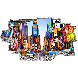 BB082 Times Square New York City Wall Stickers Bedroom Girls Boys Living Room (Large (92x52cm))