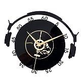 D DOLITY CD Schallplatte Musik Wanduhr Bürouhr Wand Uhr für Wohnzimmer Büro - 1