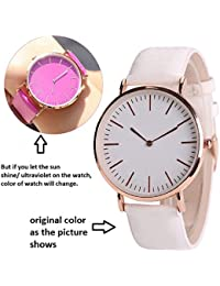 Swadesi Stuff New Arrival Solar Color Changing Stylish Analog Watch For Girls & Women