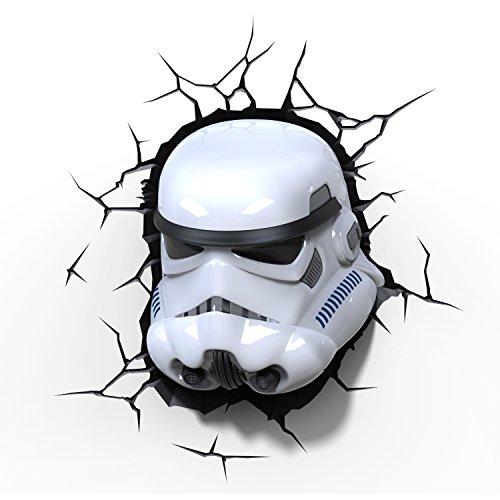 (Star Wars Stormtrooper Light FX LED Kinderlampe Wandlampe - Nachtlicht für kinder mit automatische Abschaltung und wandaufkleber)