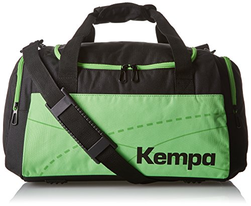 Kempa, Borsa sportiva Teamline, Nero (Schwarz/Fluo Grün), 55 x 28 x 33 cm, 50 litri