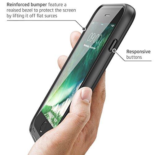 iPhone 7 Hülle, iPhone 8 Hülle, i-Blason Wasserdicht Schutzhülle Ganzkörper Case Cover Rugged Handyhülle mit eingebautem Displayschutz für Apple iPhone 7 / iPhone 8, Pink Schwarz