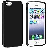 Coque iPhone 5/5S, TPU et Silicone Gel Housse pour iPhone 5/5S, Noir