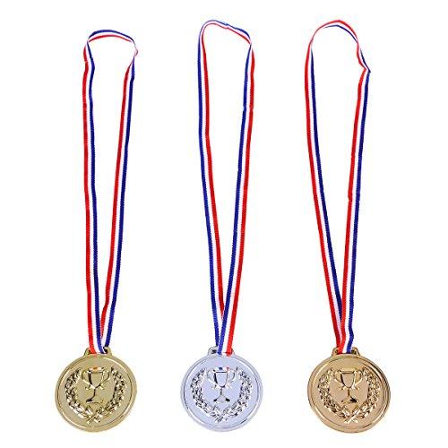 STOBOK 12Pcs Award-Medaillen setzen Sieger-Medaillen für Kindersport-Gewinnspiele