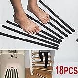 Yaheetech 18er-Set Antirutschband Anti Rutsch Streifen Rutschschutz Aufkleber Selbstklebend Sticker für Dusche Treppe (Schwarz_28*2cm)