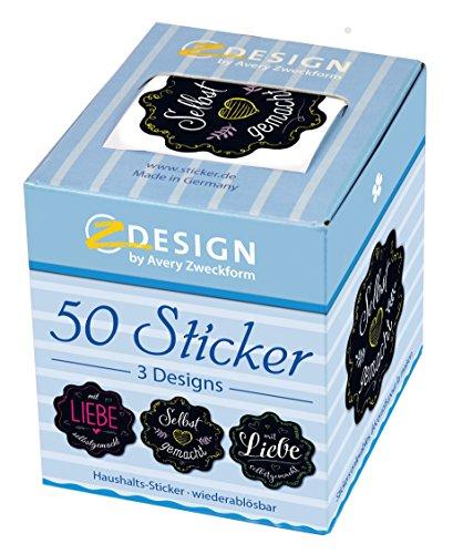 AVERY Zweckform 56859 Sticker auf Rolle, Marmelade, selbstgemacht (38 mm, im Spender) 50 Aufkleber