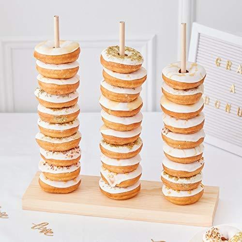 Donut-Ständer / Donut-Wall aus Holz - Back-Zubehör / Präsentation Gebäck / Backen / Kuchen-Buffet / Candy-Bar Zubehör / Kinder-Geburtstag-s-Deko-Ration