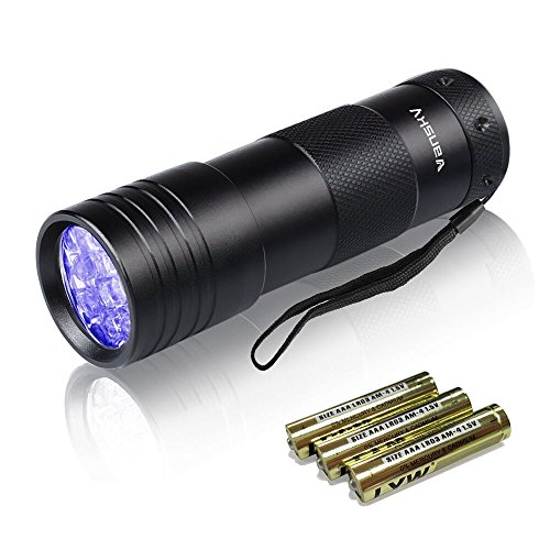 UV-Torch-Vansky-Pets-Black-Light-12Led-Lights-UV-DogsCats-Urine-Detector-Ultraviolet-Flashlight-Find-Dry-Stains-on-CarpetsRugsFloor-3-x-AAA-Batteries-Included