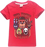 Five Nights at Freddy'S Camisetas Camiseta de Verano Cómoda Ocio Top Blusas de Manga Corta Camisa Túnica b