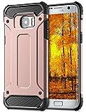 Coolden Galaxy S7 Edge Hülle, Premium [Armor Serie] Outdoor Stoßfest Handyhülle Silikon TPU + PC Bumper Cover Doppelschichter Schutz Hülle für Samsung Galaxy S7 Edge (Rosegold)