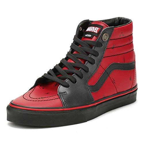 Vans Marvel Deadpool/Black SK8-Hi Trainers-UK 4