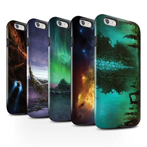 Offiziell Chris Cold Hülle / Glanz Harten Stoßfest Case für Apple iPhone 6+/Plus 5.5 / Pack 12pcs Muster / Fremden Welt Kosmos Kollektion Pack 12pcs