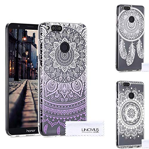 Lincivius Honor 7X Hülle, Huawei Honor 7X Hülle Pack 3 Cases Gel Design Original Pack 3 Cases Zubehör TPU Silikon Dünn Cover