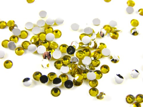 1000 x 2 mm topaze cabochons strass rond Scrapbooking Demi perles nail art faux ongles