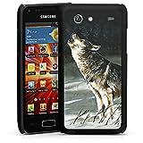 Samsung Galaxy S Advance i9070 Housse Étui Protection Coque Loup Neige Nature