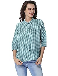 ONLY Women's Checkered Loose Fit Shirt