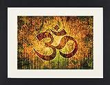 1art1 114002 Spiritualität - OM, Schöpfung und Göttliche Energie Gerahmtes Poster Für Fans und Sammler 40 x 30 cm