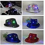 Ishua LED Flashing Hat LED Light Up Baseball Cap Hat Glow Party Illuminated Apparel Blue LED