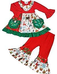 Toddler Little Girls Christmas Pernickety Reindeer Tunic Bell Bottoms Set 3T 5e29fa0b6