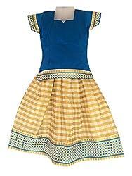 Pkd Girls Ethnicwear Pattupavada SKY BLUE / Golden