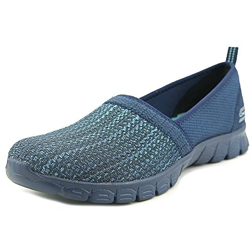 Skechers Ez Flex 3.0 Big Money, Baskets Basses Femme Bleu Marine