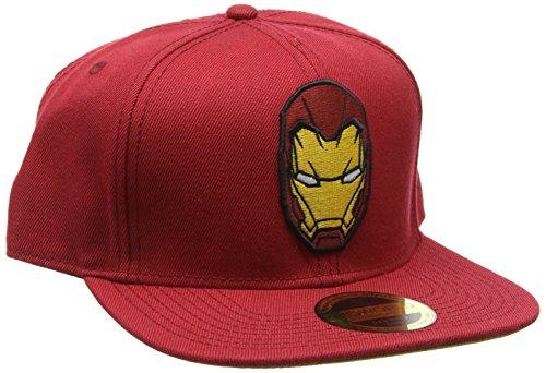 Meroncourt Unisex Guerra Civile di Capitan America, Iron Man Snapback Berretto da baseball, taglia unica, colore: rosso Red Etichettalia unica