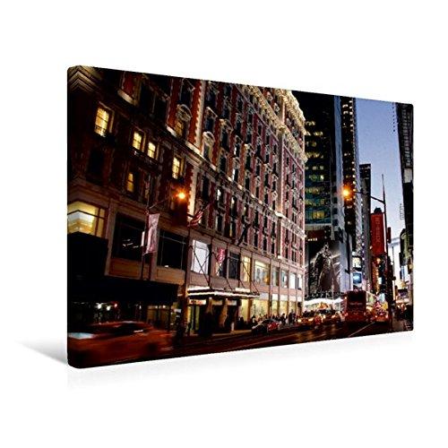 Calvendo Premium Textil-Leinwand 45 cm x 30 cm quer, West 42nd Street | Wandbild, Bild auf Keilrahmen, Fertigbild auf echter Leinwand, Leinwanddruck Orte Orte