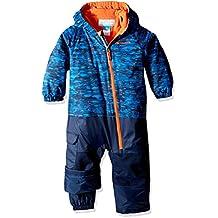 Columbia Kid 's Little Dude trajes–Super Blue Print, tamaño 0/3